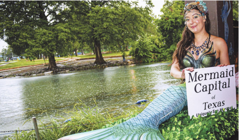 SWIMMINGLY SUCCESS0FUL: Mermaid moments begin with Mermaid Capital of Texas Fest — Pep Rally