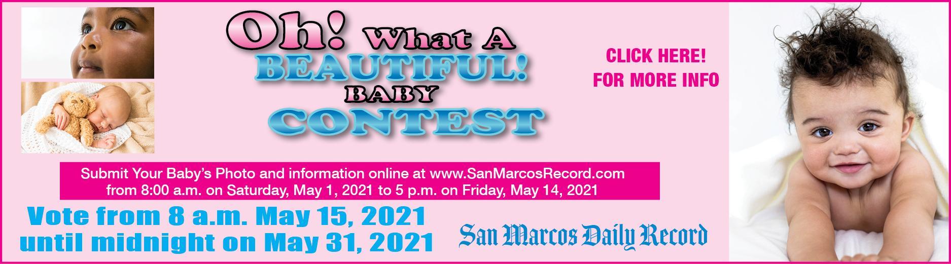 Beautiful Baby Contest - Slider Ad