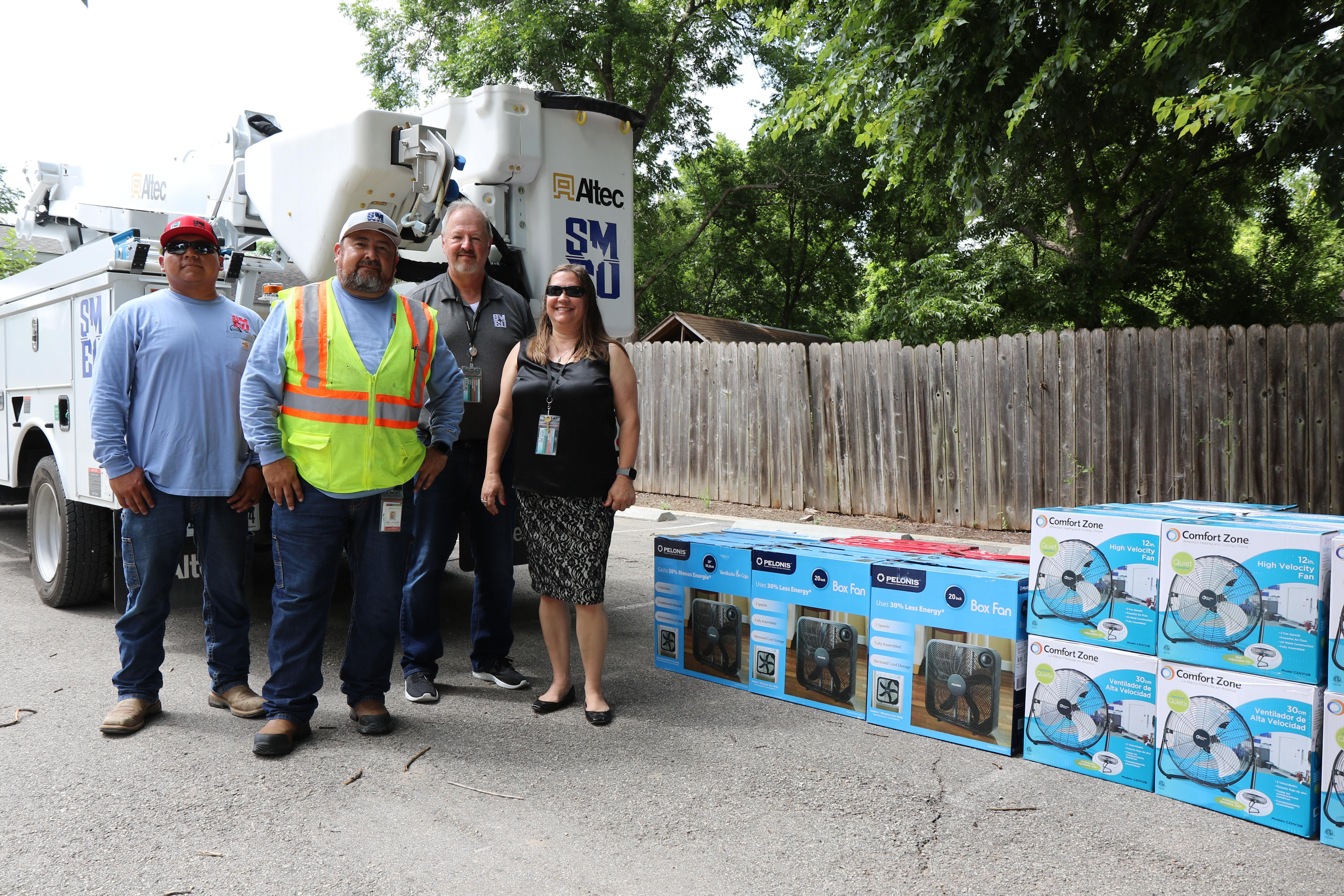 COOLING OFF: San Marcos Electric Utility completes annual summer fan drive
