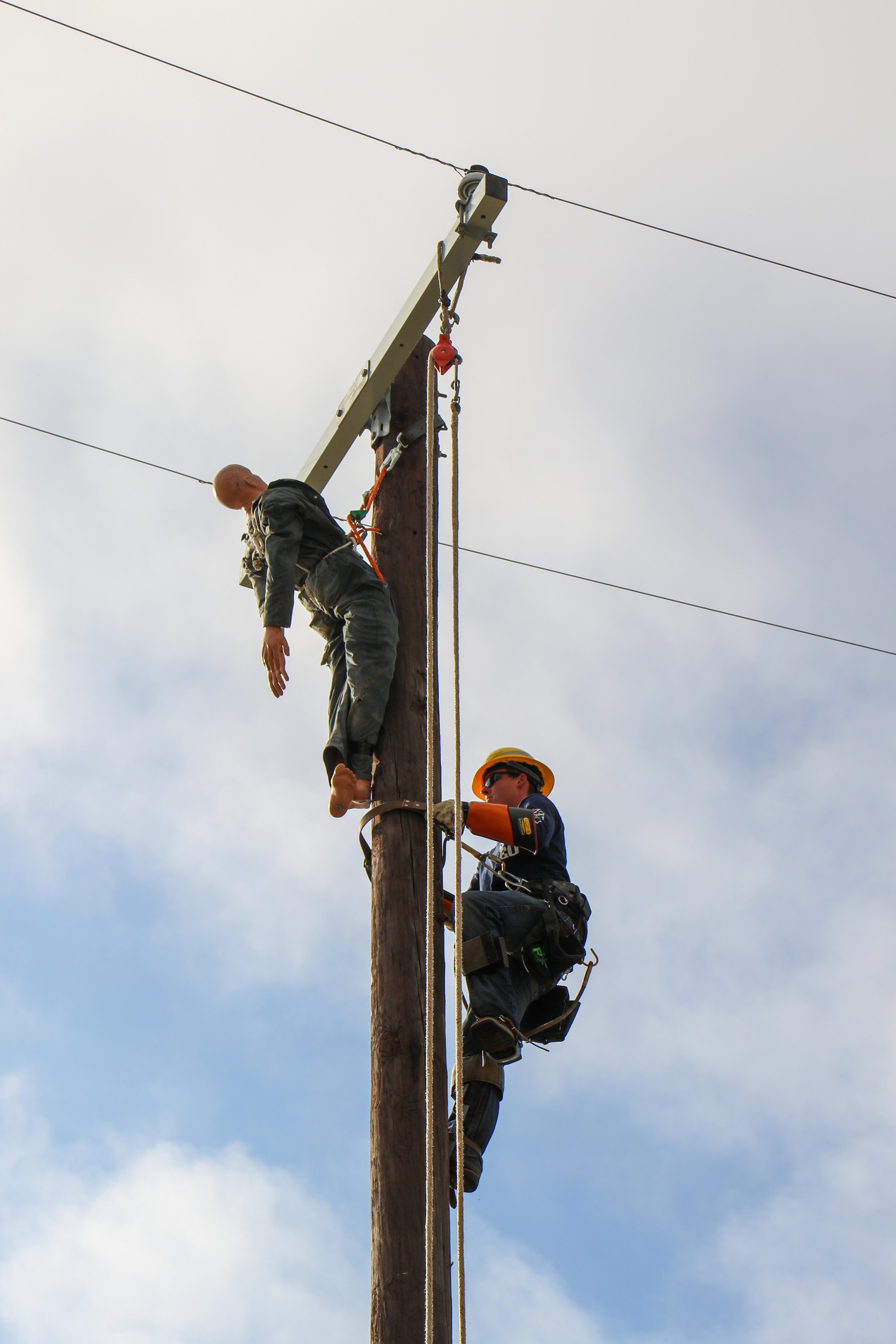 ELECTRIC COMPETITION: SMEU employees compete in Lineworker Rodeo