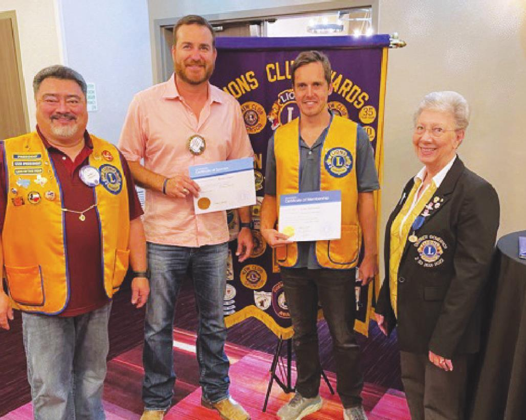 San Marcos Lions Club provides funds, welcomes district governor