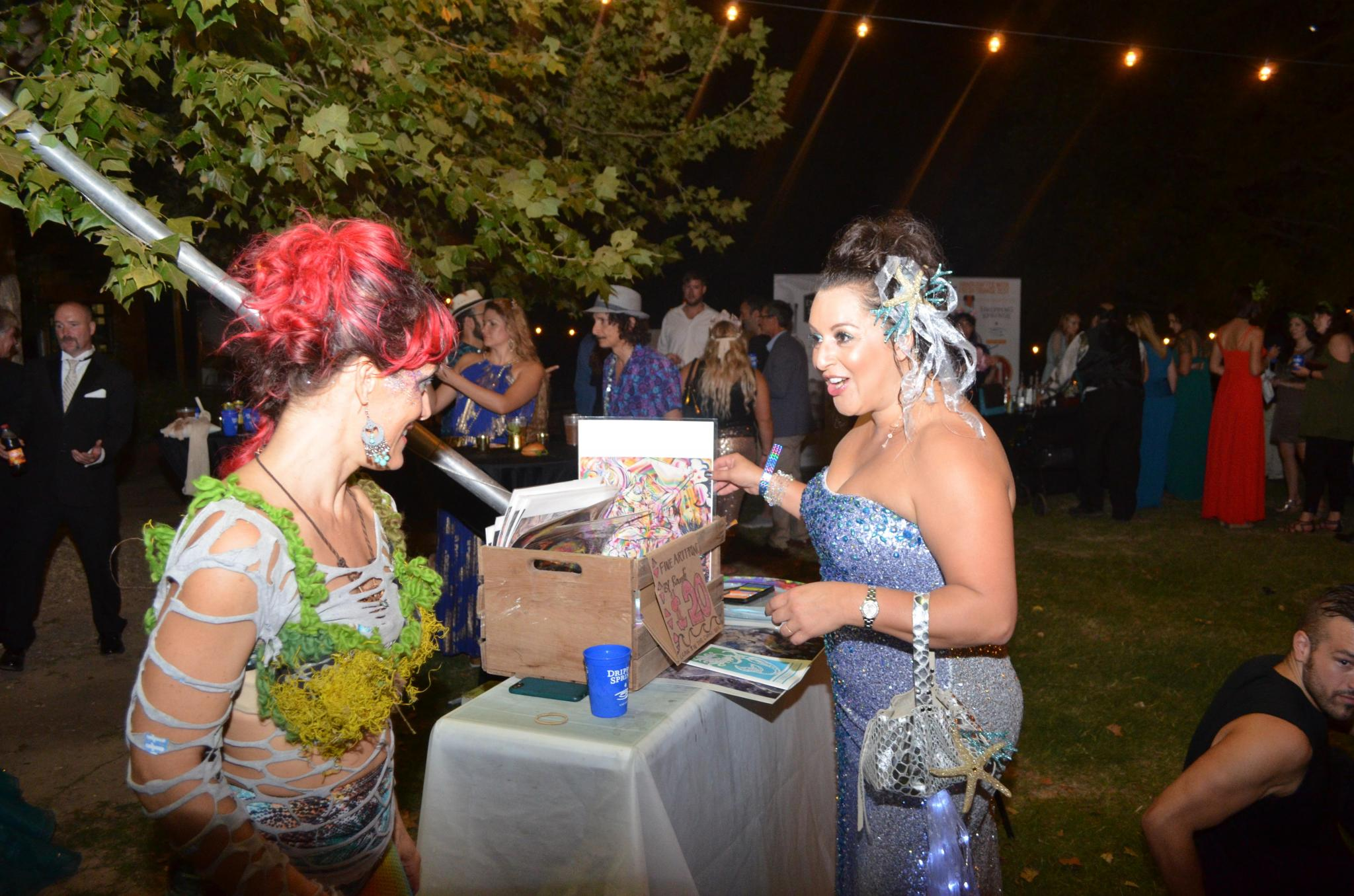 Artists and vendors were onsite selling mermaid-inspired artwork.