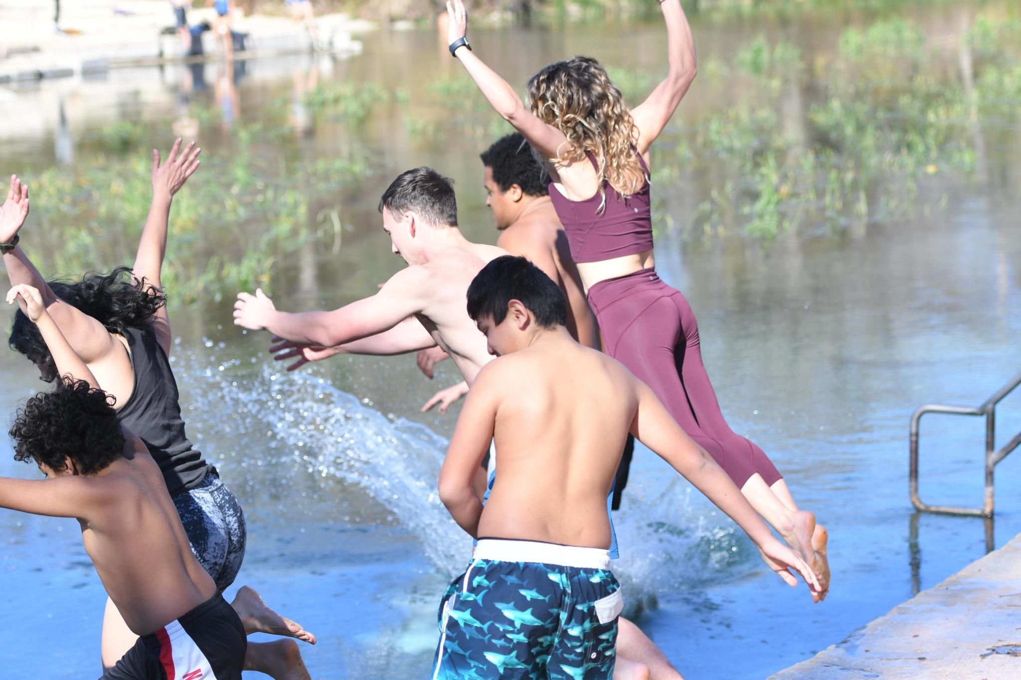 San Marcos River Plunge New Years Day