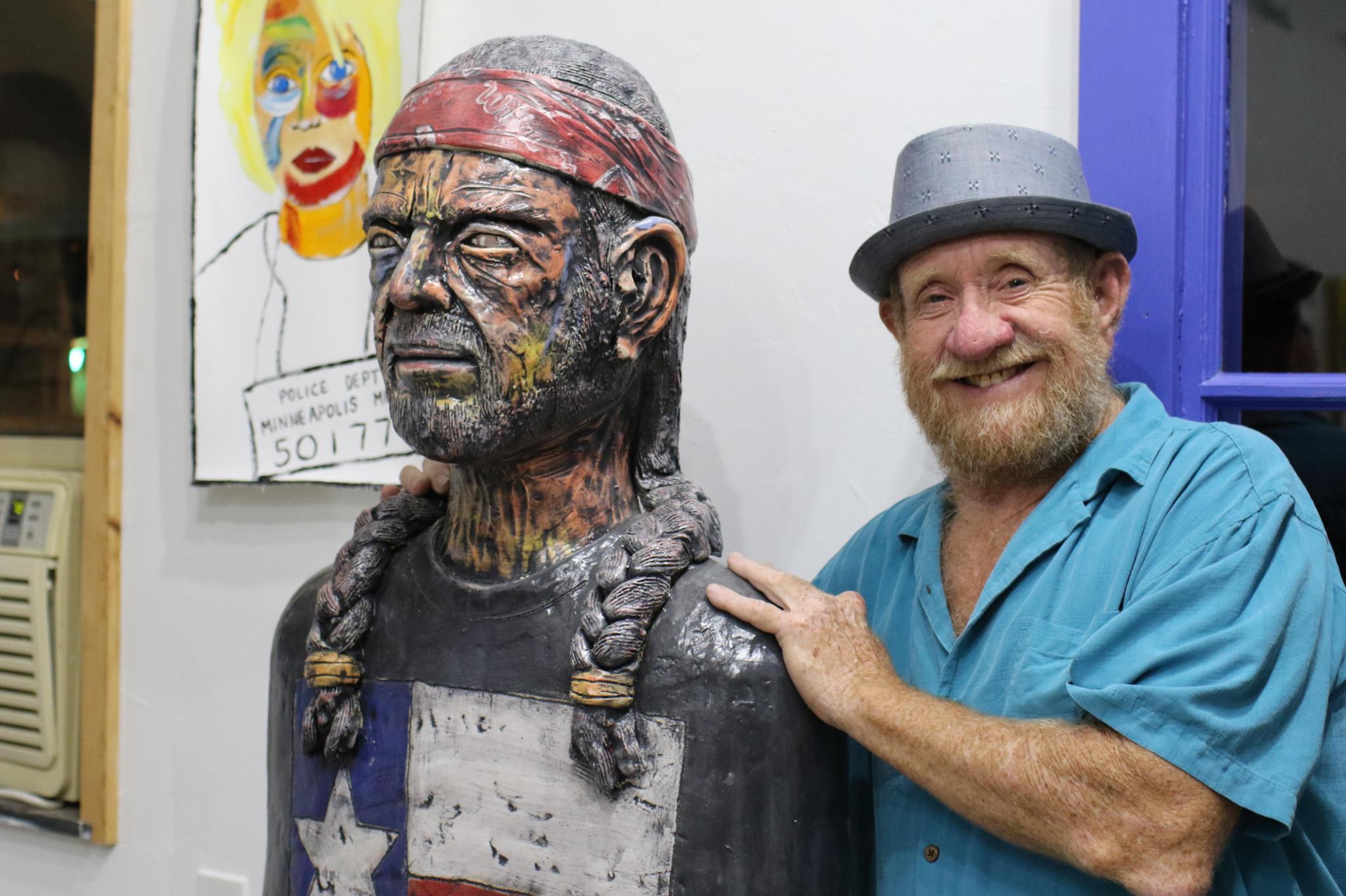 Billy Ray Mangham, Willie nelson, san marocs, art, ceramics