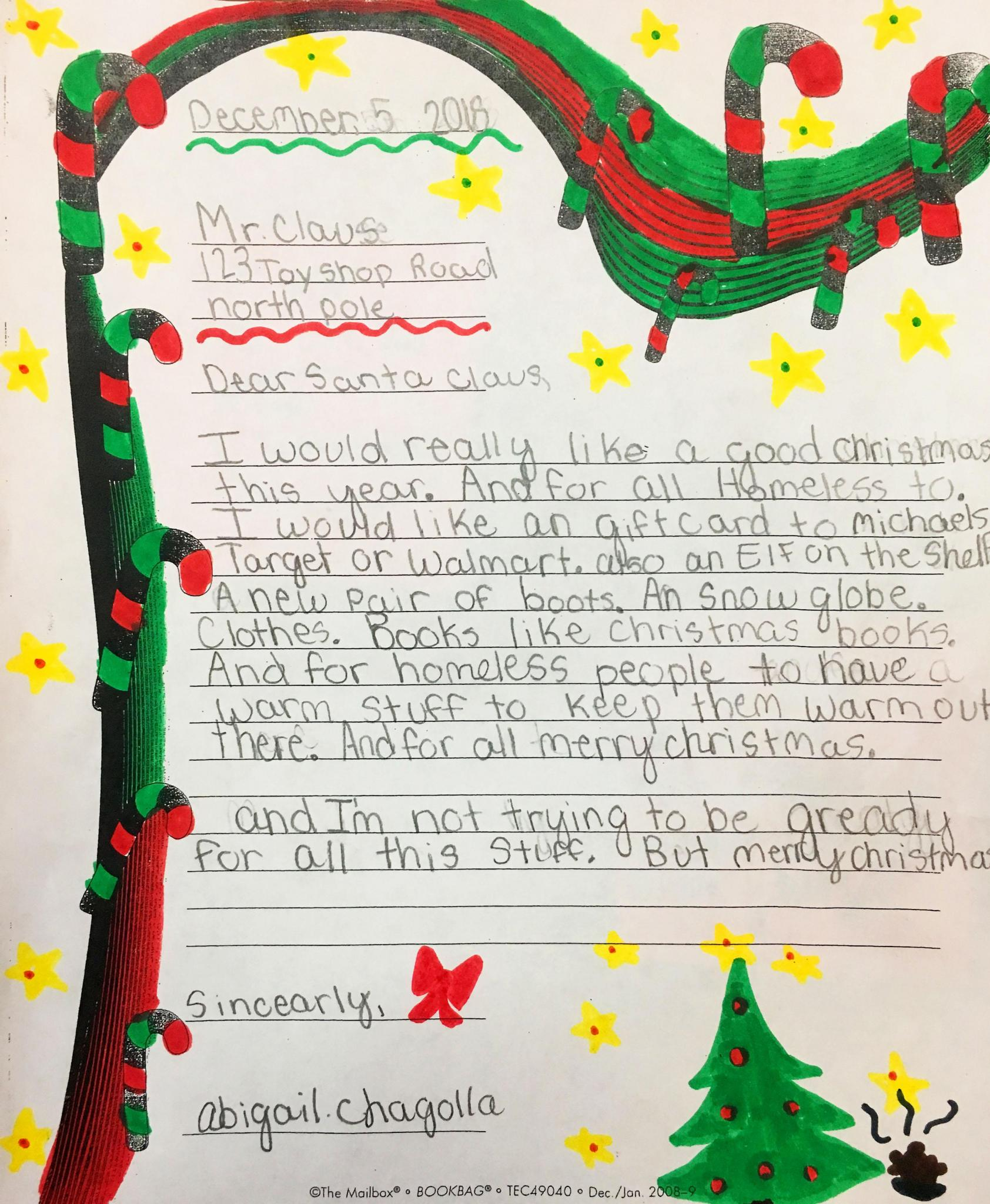 1bf413c8246 Letters to Santa