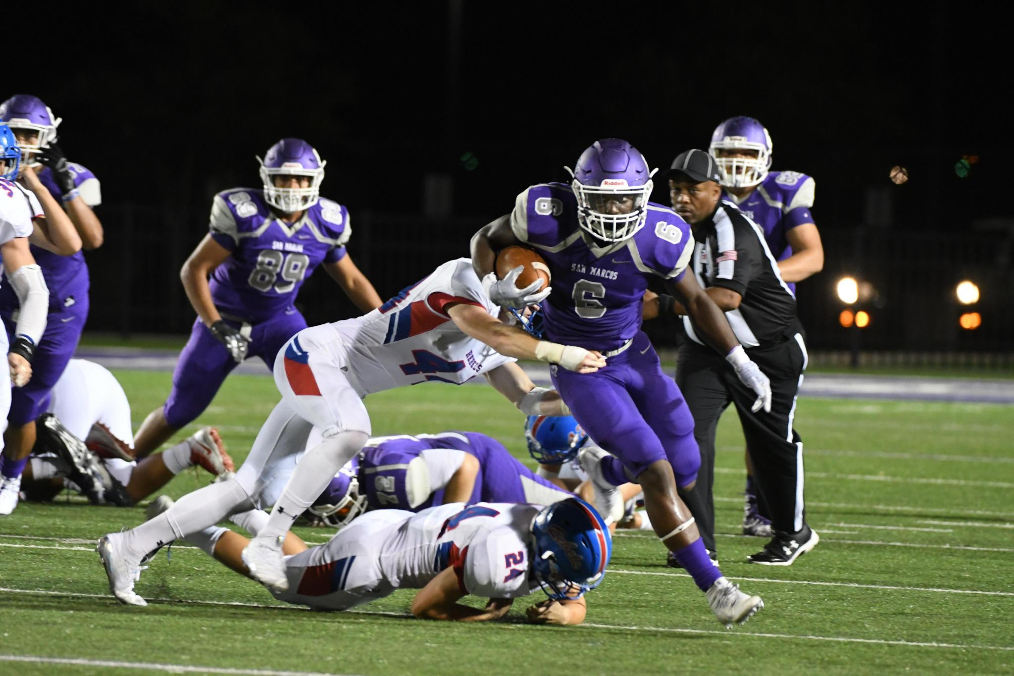 GAME NIGHT: San Marcos High School Rattlers VS Hays Rebels 8-31-18