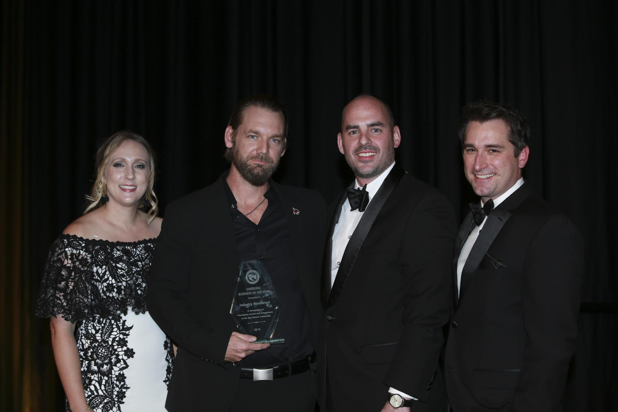 Industry restaurant was named the chamber's Emerging Business of the Year.